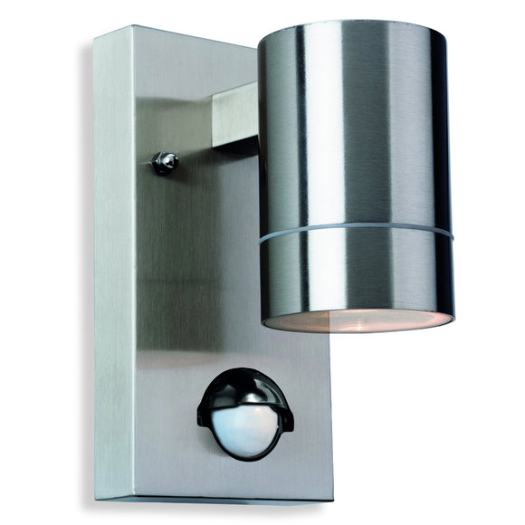 Firstlight 3428ST Colt 1 Light Stainless Steel Wall Light With PIR