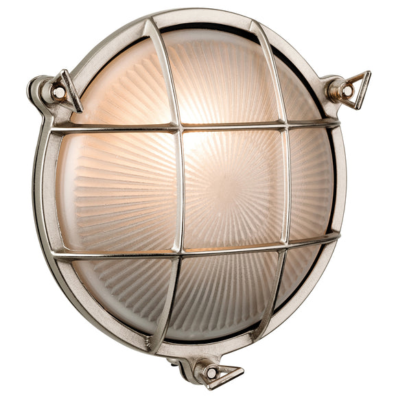 Firstlight 3434NC Nautic 1 Light Nickel Wall-Ceiling Light