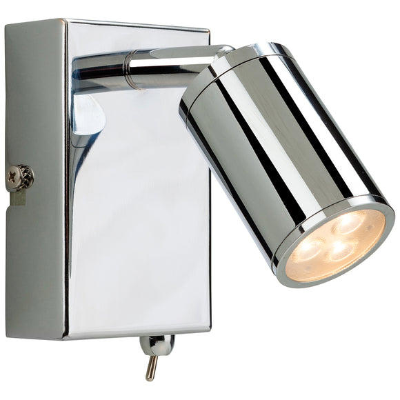 Firstlight 3453CH Orion LED 1 Light Polished Chrome Wall Light (Switched)