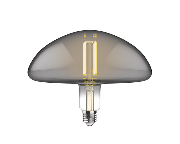 Luxram 4300211 Classic Style LED Type J E27 Dimmable 220-240V 4W 2100K, 120lm, Smoke Finish, 3yrs Warranty