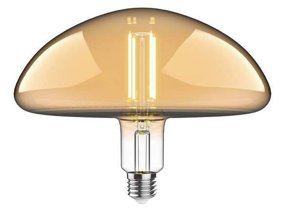 Luxram 4300222 Classic Style LED Type J E27 Dimmable 220-240V 4W 2100K, 200lm, Amber Finish, 3yrs Warranty