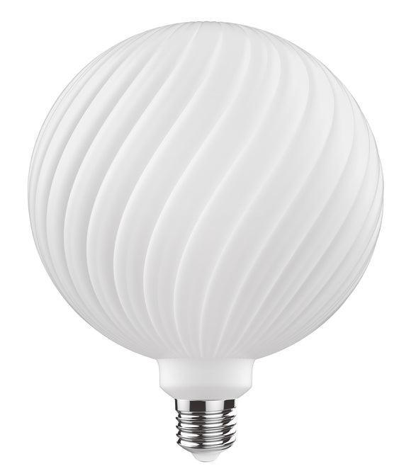 Luxram 4300353 Classic Style LED Type O E27 Dimmable 220-240V 4W 2700K, 320lm, Opal Finish, 3yrs Warranty