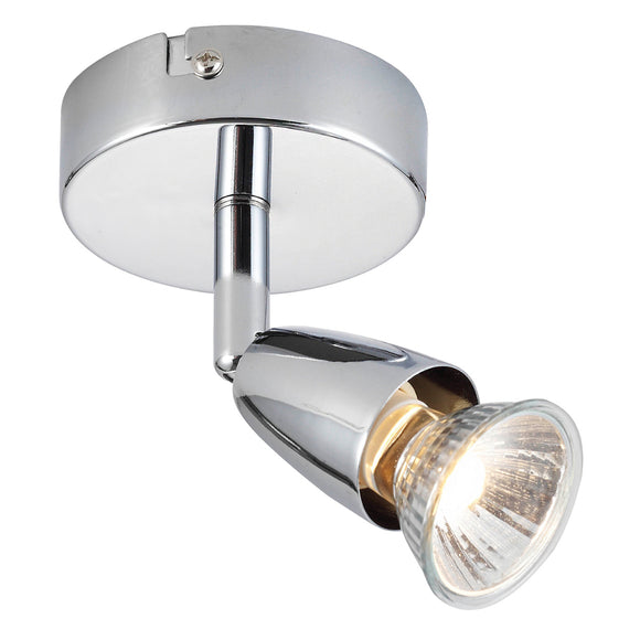 Saxby Lighting 43277 Amalfi 1 Light Polished Chrome Wall-Ceiling Spotlight