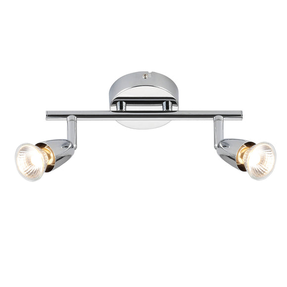 Saxby Lighting 43278 Amalfi 2 Light Polished Chrome Wall-Ceiling Spotlight