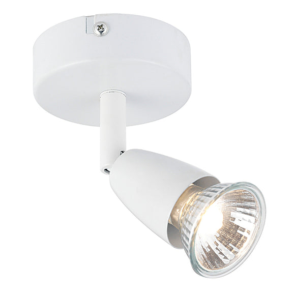 Saxby Lighting 43281 Amalfi 1 Light White Wall-Ceiling Spotlight