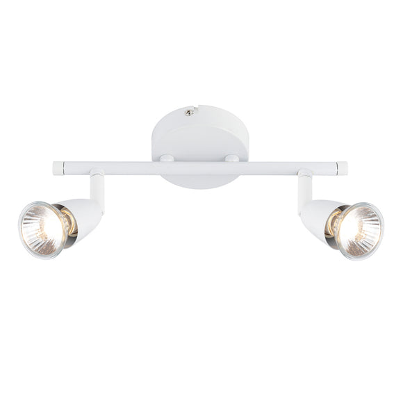 Saxby Lighting 43282 Amalfi 2 Light White Wall-Ceiling Spotlight
