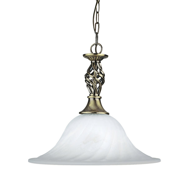 Searchlight 4581-14AB Cameroon 1 Light Antique Brass Pendant Ceiling Light