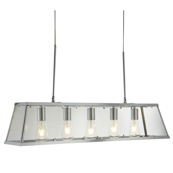 Searchlight 4614-5CC Voyager 5 Light Polished Chrome Pendant Ceiling Light