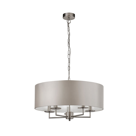 Searchlight 4785-5SS Knights Bridge 5 Light Satin Silver Pendant Ceiling Light