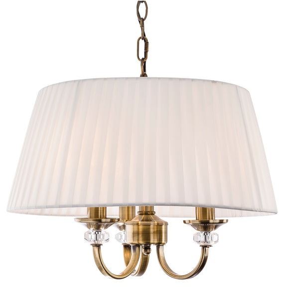 Firstlight 4865AB Langham 3 Light Antique Brass Ceiling Light