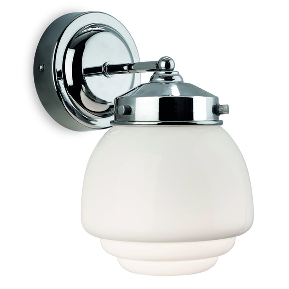 Firstlight 4945CH Art Deco 1 Light Polished Chrome Wall Light (Switched)