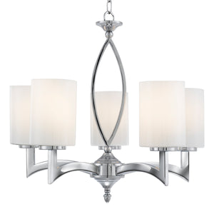 Searchlight 4995-5CC Gina 5 Light Polished Chrome Pendant Ceiling Light