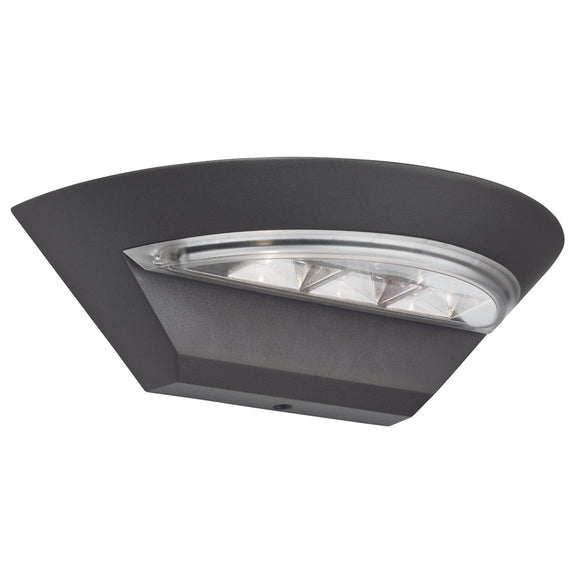 Searchlight 5122GY Mississippi Dark Grey LED Wall Light