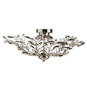 Searchlight 5256-6AB Lima 6 Light Antique Brass Semi-Flush Ceiling Light