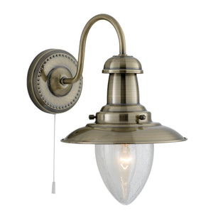 Searchlight 5331-1AB Fisherman 1 Light Antique Brass Wall Light