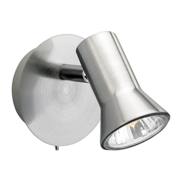Firstlight 6090BS Magnum 1 Light Brushed Steel Wall Spotlight (Switched)