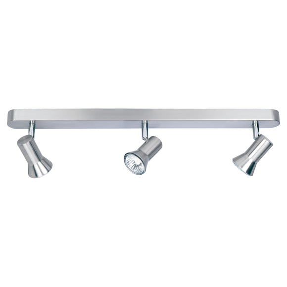 Firstlight 6092BS Magnum 3 Light Brushed Steel Ceiling Spotlight