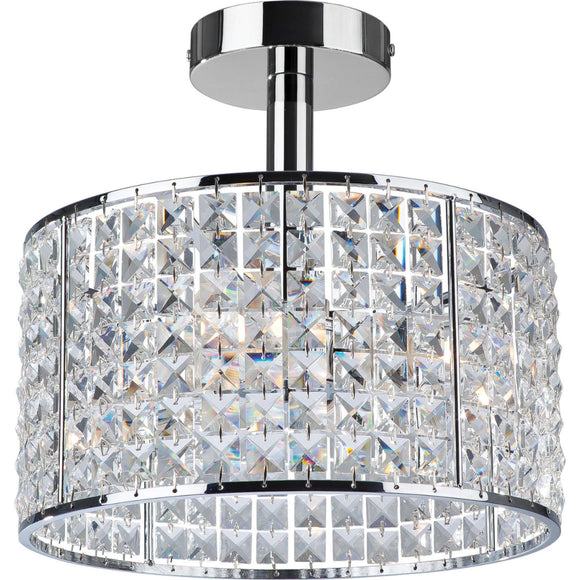 Firstlight 6152CH Pearl 4 Light Polished Chrome Ceiling Light