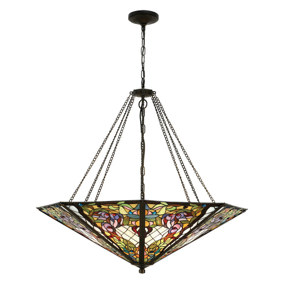 Interiors 1900 63901 Anderson Mega Panel Inverted 8 Light Pendant