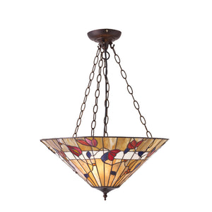 Interiors 1900 63949 Bernwood Large Inverted 3 Light Pendant