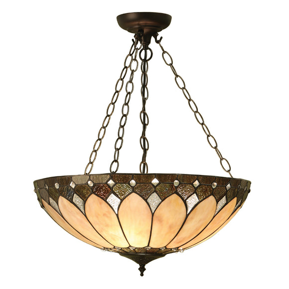 Interiors 1900 63976 Brooklyn Large Inverted 3 Light Pendant