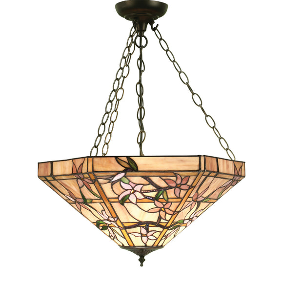 Interiors 1900 64019 Clematis Large Inverted 3 Light Pendant