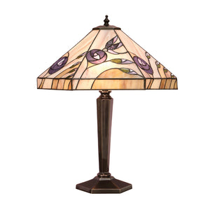 Interiors 1900 64038 Damselfly Medium Table Lamp With Cast Brass Base