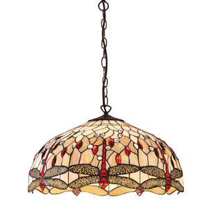 Interiors 1900 64079 Dragonfly Beige Large 3 Light Pendant