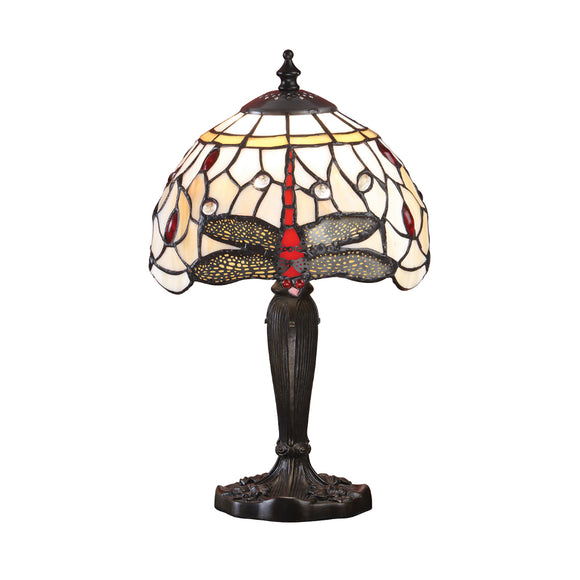 Interiors 1900 64087 Dragonfly Beige Intermediate Table Lamp