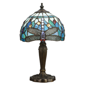 Interiors 1900 64088 Dragonfly Blue Intermediate Table Lamp