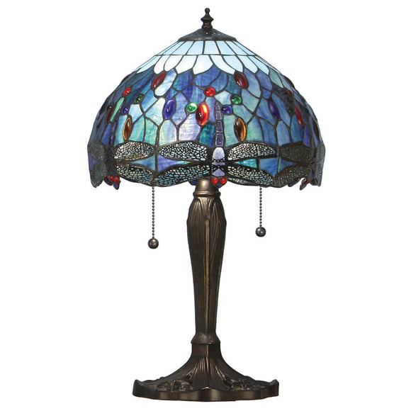 Interiors 1900 64090 Dragonfly Blue Small Table Lamp