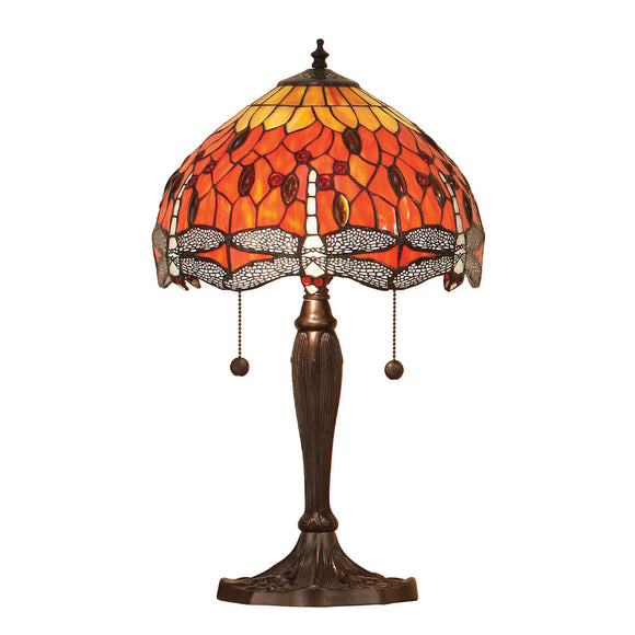 Interiors 1900 64092 Dragonfly Flame Small Table Lamp