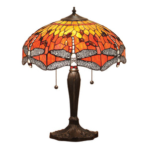 Interiors 1900 64093 Dragonfly Flame Medium Table Lamp