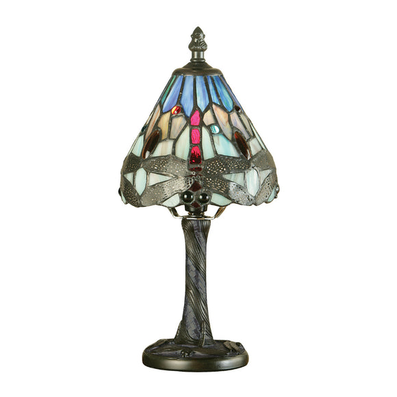Interiors 1900 64098 Dragonfly Blue Mini Table Lamp