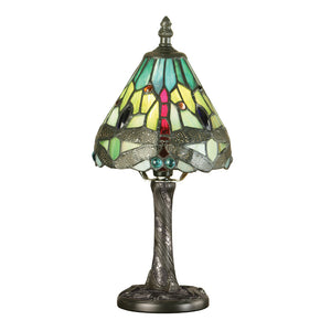 Interiors 1900 64099 Dragonfly Green Mini Table Lamp