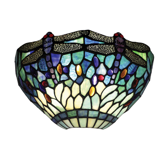 Interiors 1900 64102 Dragonfly Blue Wall Light
