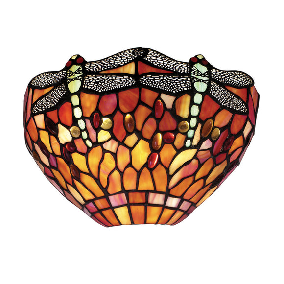 Interiors 1900 64103 Dragonfly Flame Wall Light