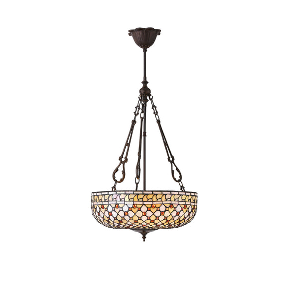 Interiors 1900 64277 Mille Feux Large Inverted 3 Light Pendant