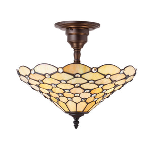 Interiors 1900 64300 Pearl Medium 3 Light Semi-Flush