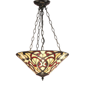 Interiors 1900 64319 Ruban Medium Inverted 3 Light Pendant
