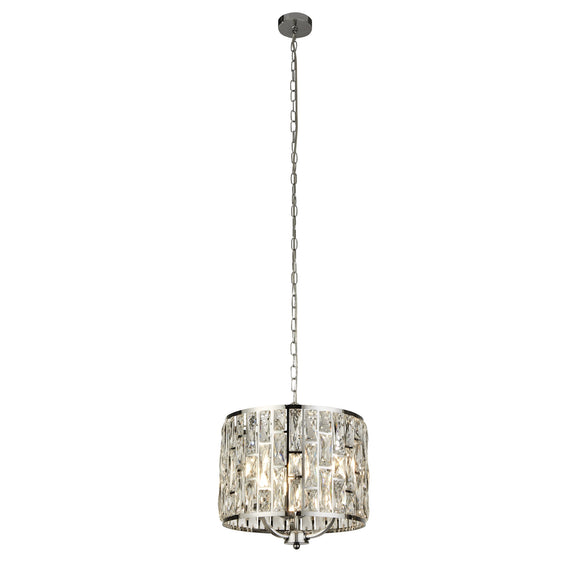 Searchlight 6583-3CC Bijou 3 Light Polished Chrome-Crystal Pendant Ceiling Light (Small)