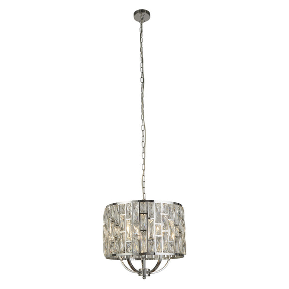 Searchlight 6585-5CC Bijou 5 Light Polished Chrome-Crystal Pendant Ceiling Light (Medium)