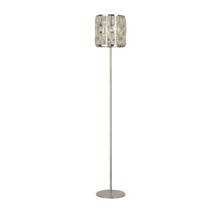 Searchlight 6589CC Bijou 1 Light Polished Chrome-Crystal Floor Lamp