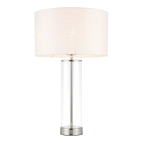 Endon Lighting 70600 Lessina 1 Light Bright Nickel Touch Activated Table Lamp