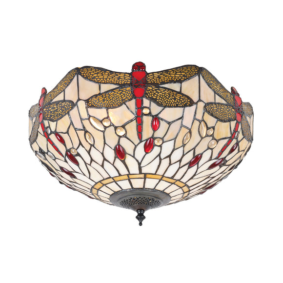 Interiors 1900 70723 Dragonfly Beige Medium 2 Light Flush
