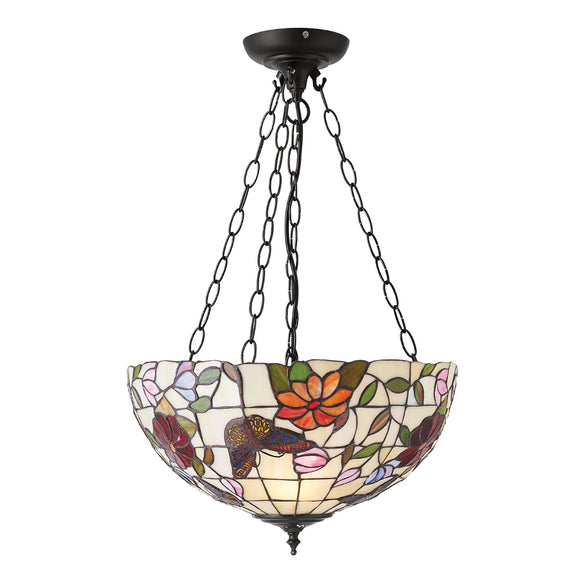 Interiors 1900 70745 Butterfly Medium Inverted 3 Light Pendant
