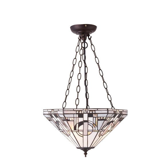 Interiors 1900 70777 Metropolitan Inverted 3 Light Pendant
