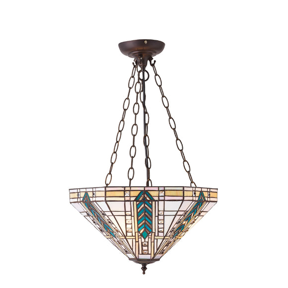 Interiors 1900 70782 Lloyd Medium Inverted 3 Light Pendant