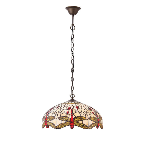 Interiors 1900 70824 Dragonfly Beige Medium 3 Light Pendant