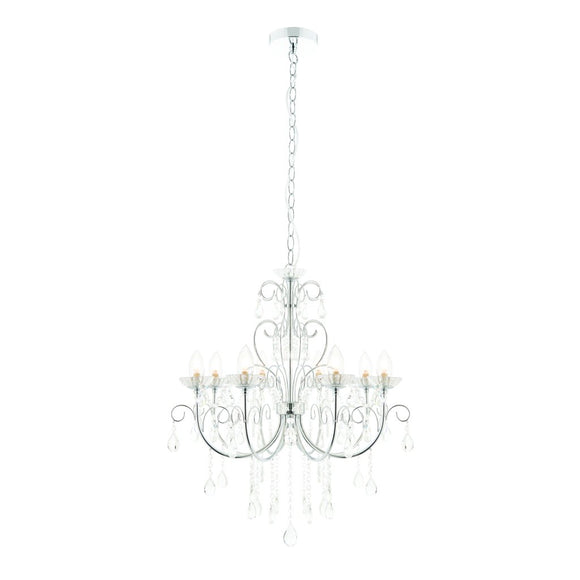 Endon Lighting 72561 Tabitha 8 Light Polished Chrome Pendant Ceiling Light